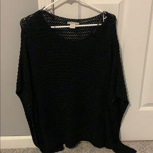 Ariat black sweater poncho